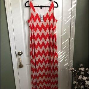 Jessica Howard Chevron Print Maxi Dress NWT